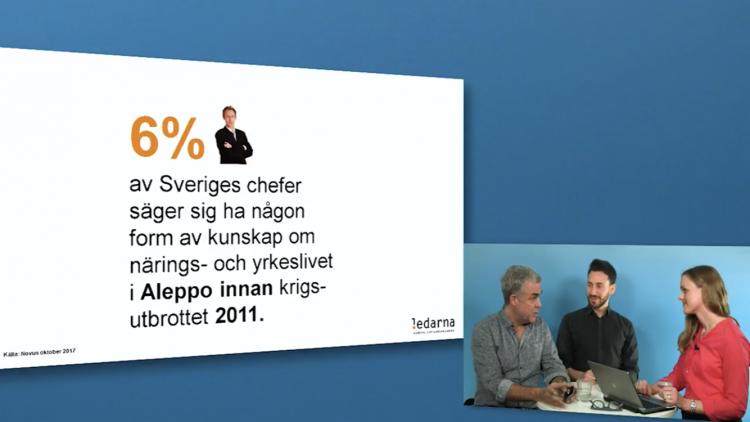 """""""Farah och den svenska chefen"""",<br>webinar för arbetsgivare hösten 2017."""